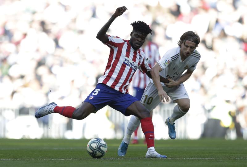 Imagen del derbi entre Real Madrid y Atlético de Madrid