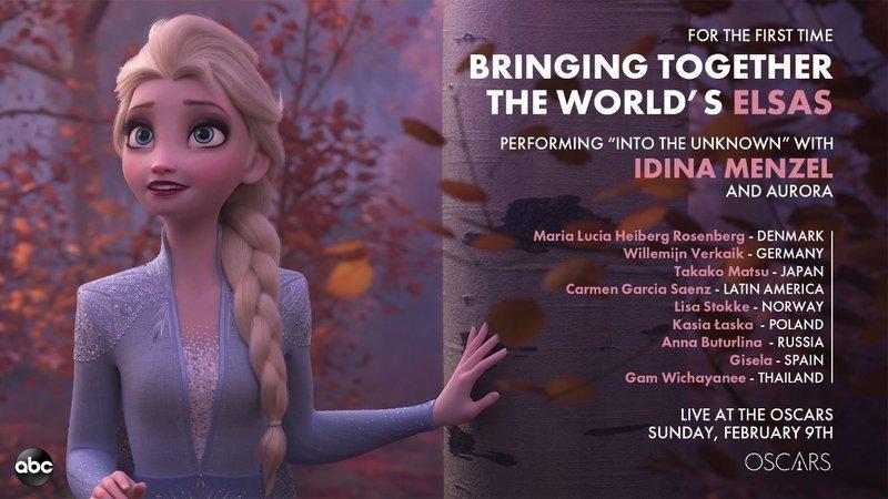Estas han sido las cantantes que han interpretado a Elsa en los Oscar