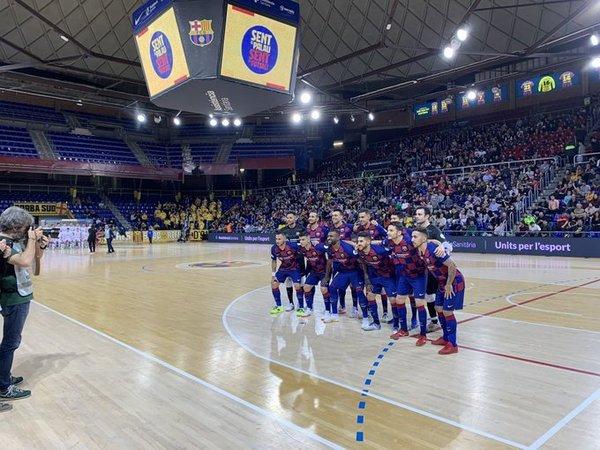Así está el Palau hoy FOTO: FCB