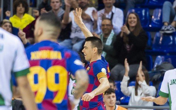 La celebración del Lozano tras el 1-0 FOTO: FCB