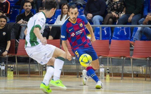 Boyis, en acción ante el Córdoba FOTO: FCB