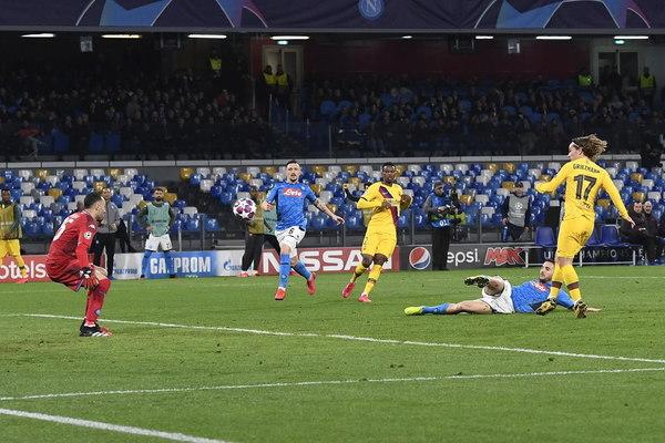 Así ha rematado Griezmann para marcar el gol del empate