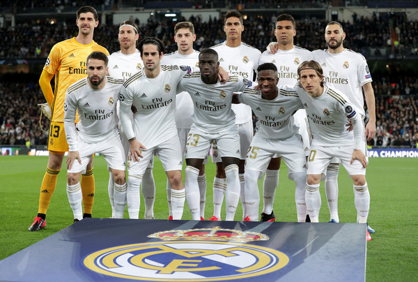 El once titular del Real Madrid ante el Manchester City