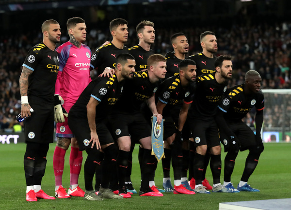 El once titular del Manchester City ante el Real Madrid