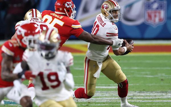 Garoppolo sta decidendo il Super Bowl LIV (Getty)
