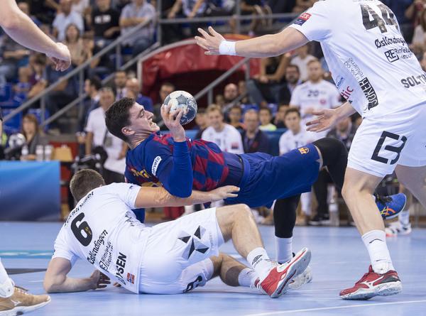 Fàbregas, en acción en el partido de la primera vuelta contra el Elverum