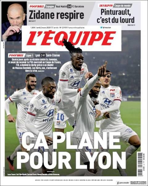 Portada del diario 'L'Equipe'