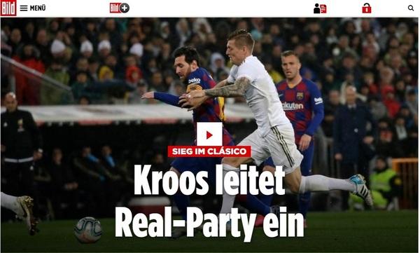 Titular del diario Bild en su edición digital