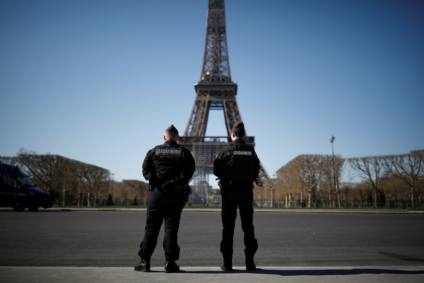 French police officers at Eiffel Tower