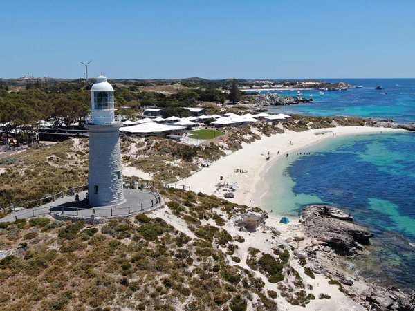 An aerial view of Rottnest Island