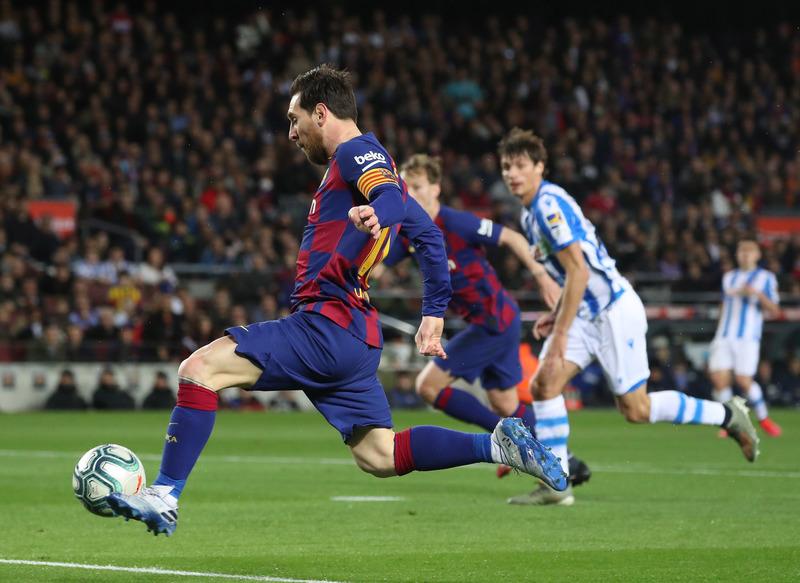 Leo Messi ha tenido las mejores ocasiones del partido. Foto: Pep Morata