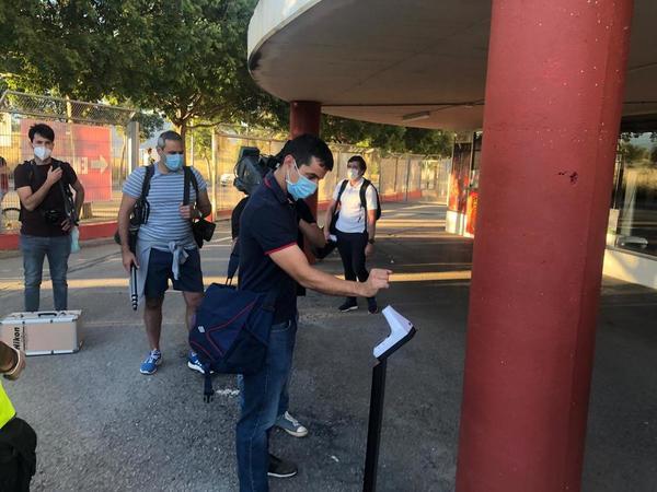 Protocolo de acceso de los periodistas y reporteros gráficos que pueden acceder al Mallorca Visit Stadium FOTO: MANEL MONTILLA