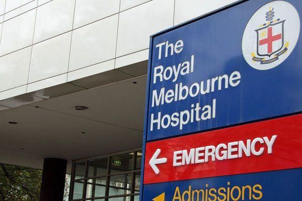 The Royal Melbourne Hospital emergency department sign