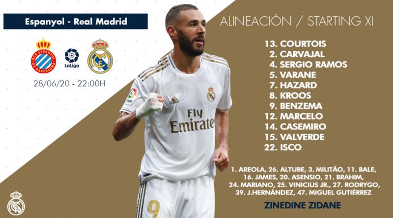 XI Titular del Real Madrid