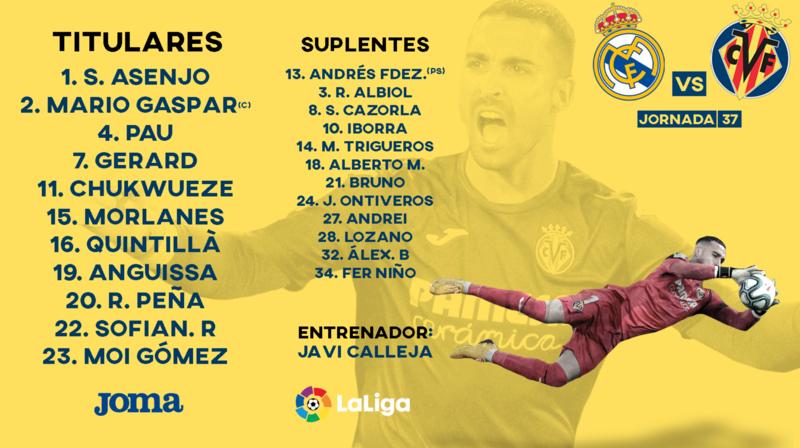 XI titular del Villarreal
