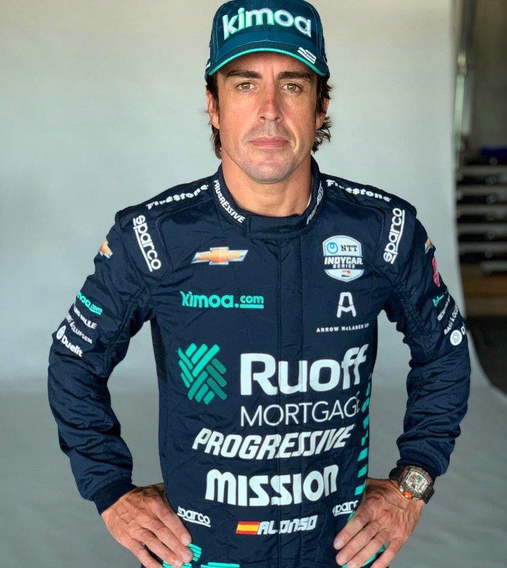Alonso rueda hoy en los primeros entrenamientos de las 500 Millas