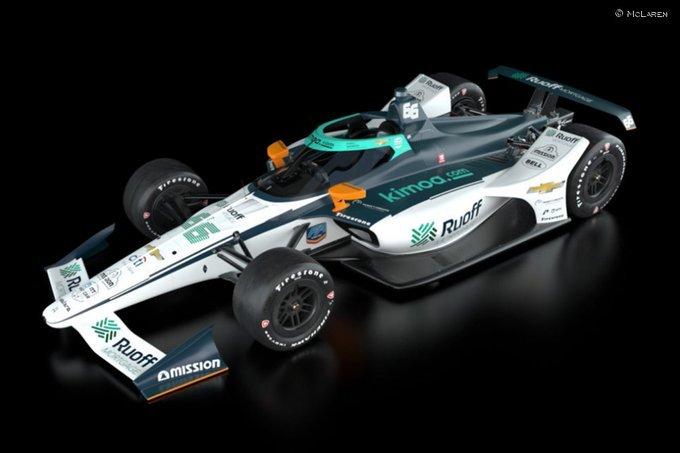 Así lucirá el coche que lleve hoy Alonso en los entrenamientos de las 500 Millas de Indianápolis