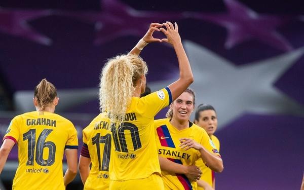 Hamraoui ha celebrado así el gol FOTO: FCB
