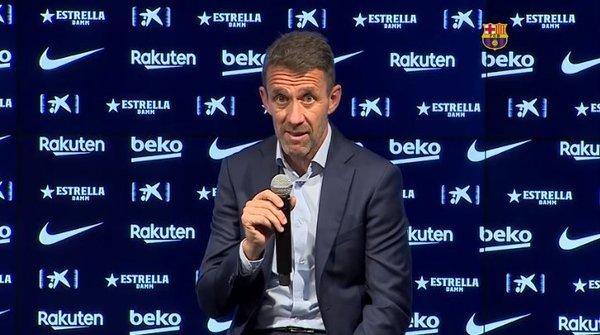 Ramon Planes, secretario técnico, más serio respondiendo preguntas sobre Messi FOTO: FCB