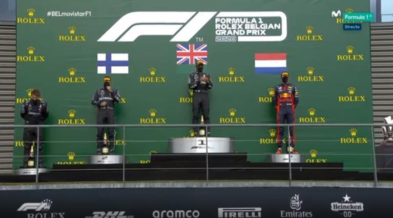 El podio del GP de Bélgica de F1