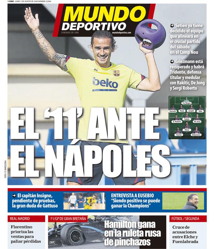El once del Barça ya lo confirmó Mundo Deportivo el pasado lunes.