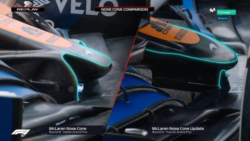 Comparativa del nuevo morro de McLaren, al estilo Mercedes