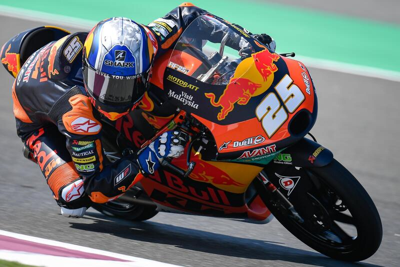 Raúl Fernández ha sido el más rápido en los primeros libres de Moto3
