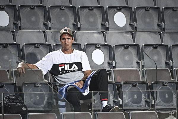 Juan Ignacio Chela, ex jugador y ahora entrendor de Diego Schwartzman FOTO: EFE