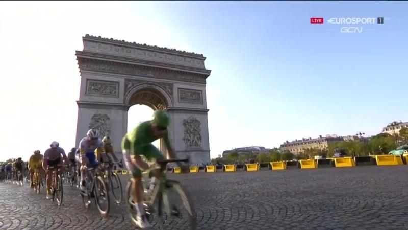 El Arco de Triunfo de París, escenario majestuoso