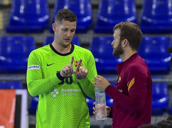 Möller y Gonzalo, la pareja de porteros del Barça