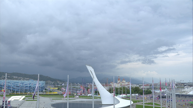 Todo listo en Sochi. El cielo está tapado, pero no amenaza lluvia.