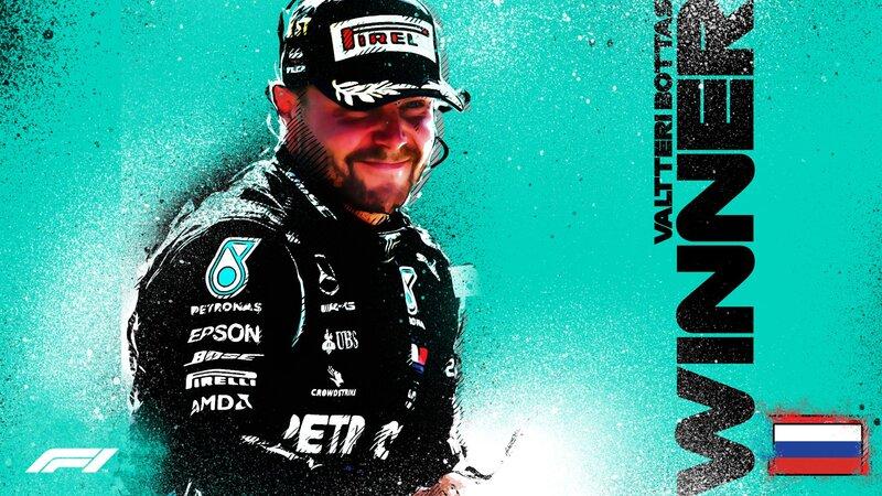 El ganador del GP de Rusia: Valtteri Bottas. (@F1)
