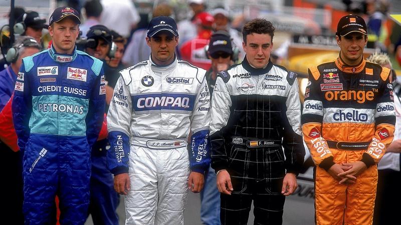 La imagen del primer Gran Premio de Kimi Raikkonen, en Australia 2001. Ese día también se estrenaba Fernando Alonso. (@F1)