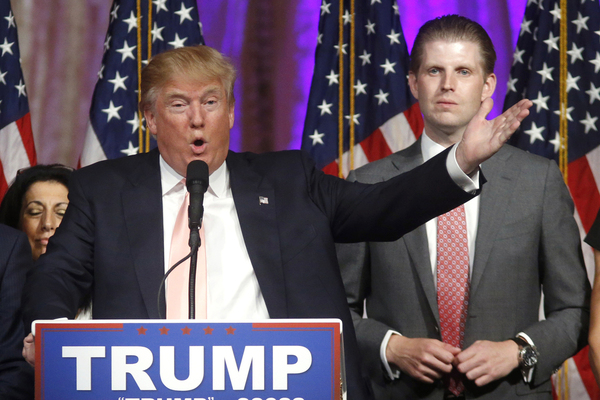 Donald Trump and his eldest son Eric