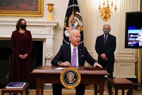 President Joe Biden signs executive orders