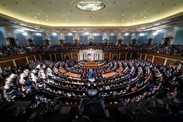 A joint sitting of the US Congress