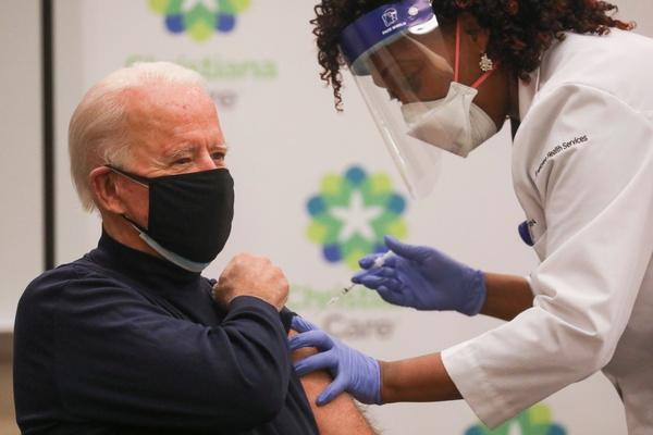 President-elect Joe Biden gets a coronavirus vaccine shot