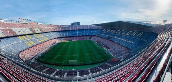 Así luce el Camp Nou tres horas antes del duelo entre el Barça-PSG FOTO: GEMMA SOLER