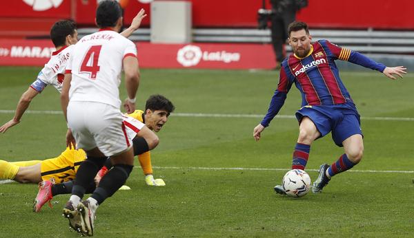 Messi ha marcado así el 0-2 FOTO: AP