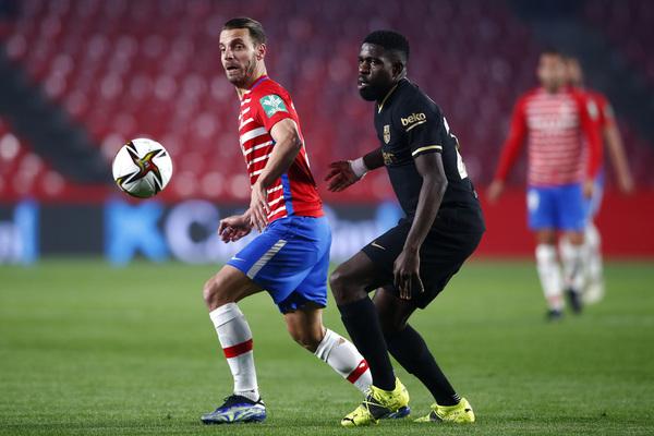 Umtiti cometió un grave error que le costó al Barça el 1-0 FOTO: EFE