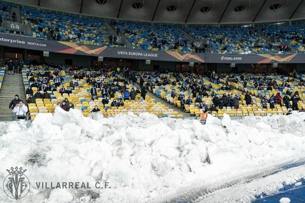 El Olímpico de Kiev, con público en las gradas Foto: Villarreal