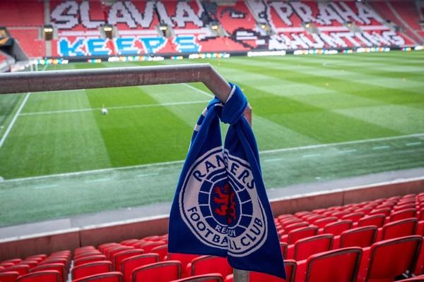 El Eden Arena de Praga también tiene los colores del Rangers Foto: RangersFC