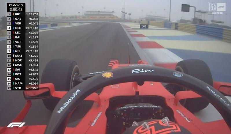 On Board de Carlos Sainz en Ferrari en el test de F1 2021