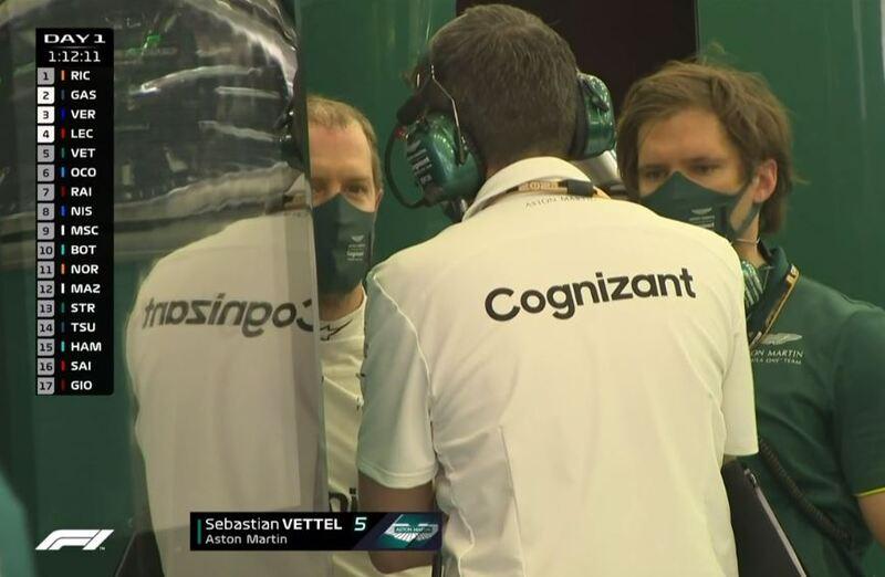 Sebastian Vettel se toma un puqueño descanso