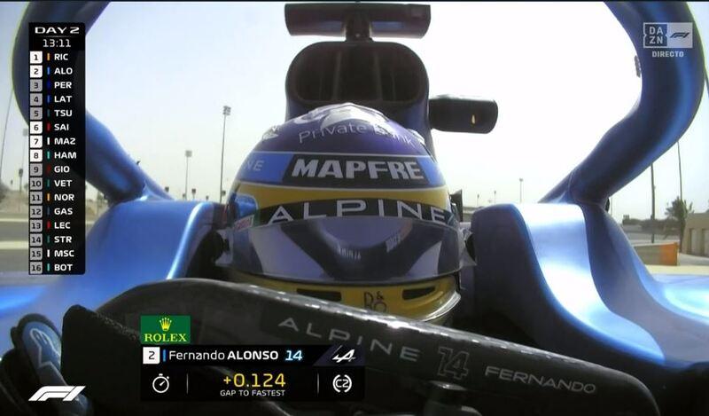 Alonso, pilotando el Alpine