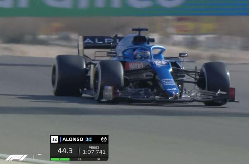 Fernando Alonso, en pista de nuevo, ahora con el duro