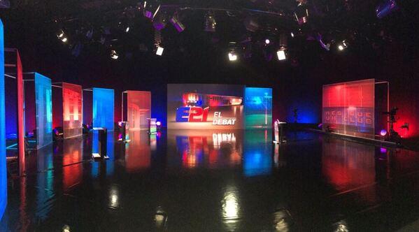 El plató de TV3 donde se organizará el último debate de los candidatos a la presidencia del FC Barcelona FOTO: TWITTER XAVI LEMUS