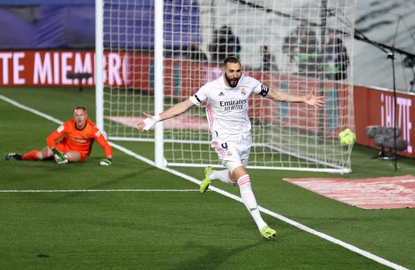 Benzema celebra el 1-0 FOTO: GETTY