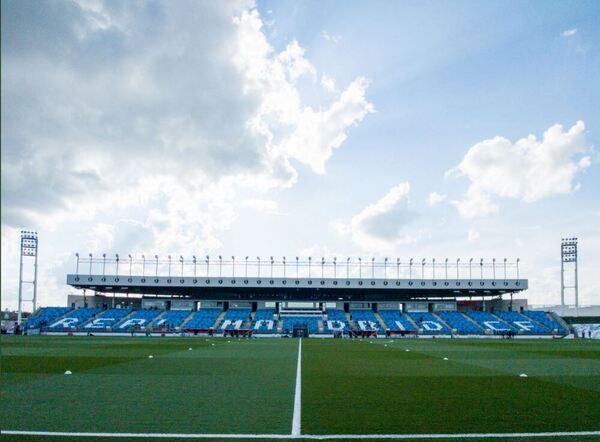 Así luce a esta hora el estadio Alfredo Di Stéfano, escenario del Clásico de esta noche FOTO: FCB