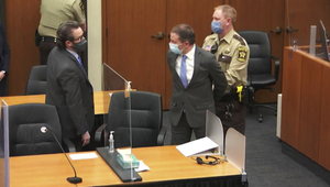 Derek Chauvin is handcuffed and escorted from the court room.